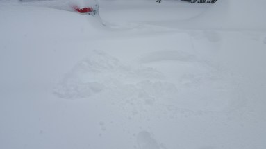 Aftermath of snow angel pikes