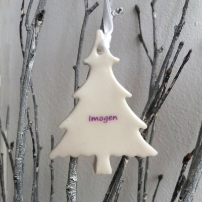 white christmas tree decorations