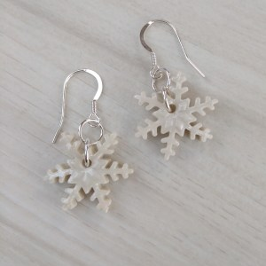 snowflake dangle earrings 2
