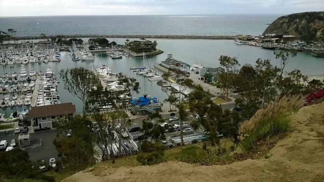 Dana Point Harbor with the Ocean Institute to the far right. Photo by M.C.