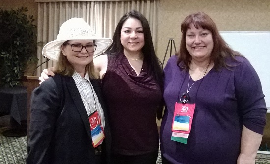 Jeanne M. Dickson, Author Sylvia Day and Christiane J. Corbin. Photo by M.C.