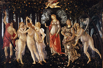 Primavera, Sandro Botticelli, Tempera on Wood, c.1482, Italian