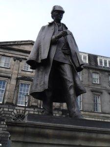 Sherlock Holmes, Gerald O. Laing, Bronze, 1991, British