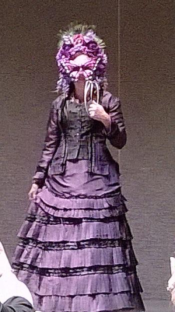 Phantom of the Opera theatergoer