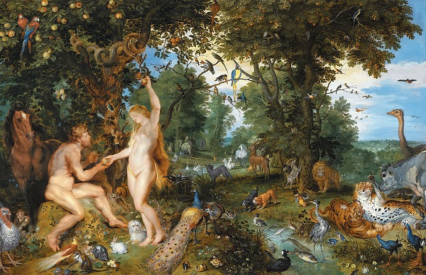 The Garden of Eden with the fall of man by Rubens and Brueghel