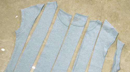 cut tee shirt for ruffles