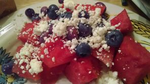 Watermelon-Blueberry-Feta Salad