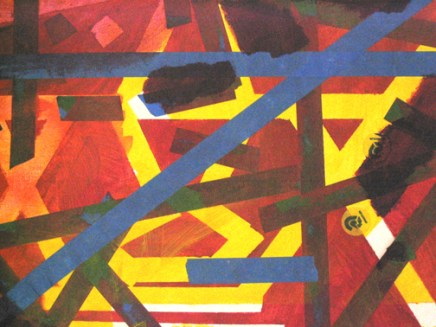 Slide #5: Mixed Media, 15 1/2x19 1/2 inches, 2004
