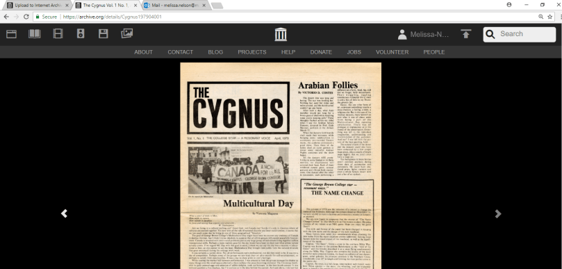 Internet Archive Collection: George Brown College Archives