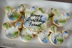 Disney Mickey Mouse Ear Birthday Cookies