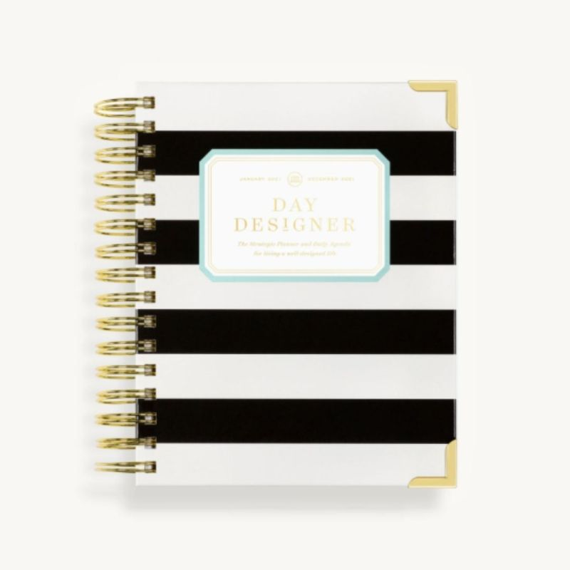 2021 Mini Daily Planner Black Stripe
