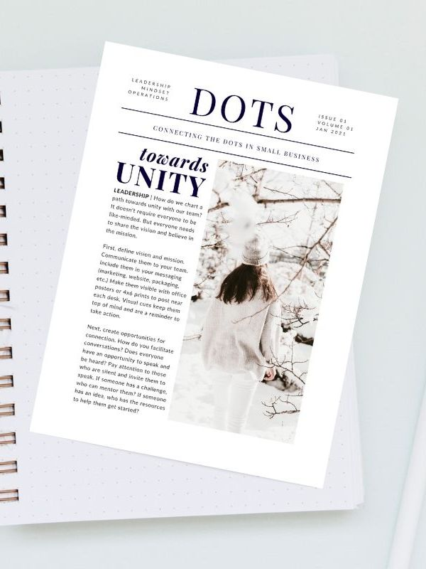 Melissa Kay Jones - DOTS Newsletter - January 2021