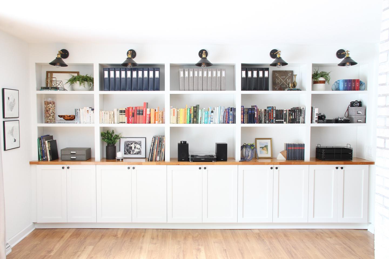 Our Built In Bookshelves Melissa Lynch