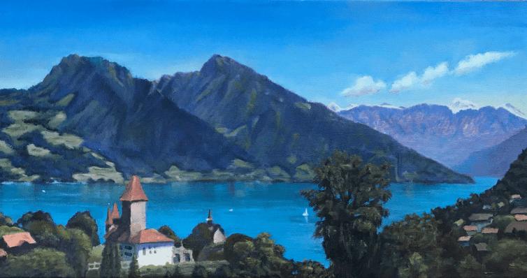 Lake Thun Castle Spiez Switzerland