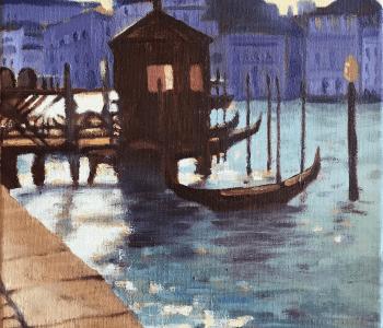 Venice Gondolas Dusk