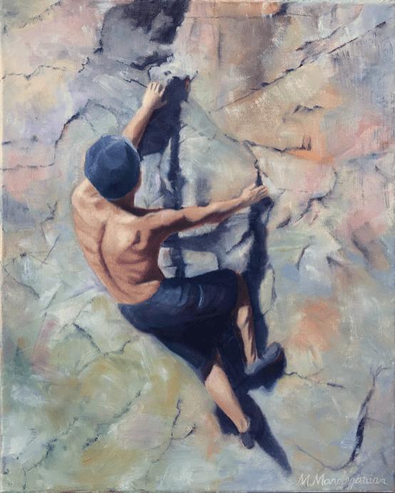 Climber Bouldering Rock Climbing