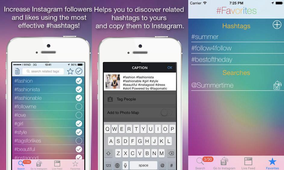 Hashtag Tools - Tagomatic iOS mobile app
