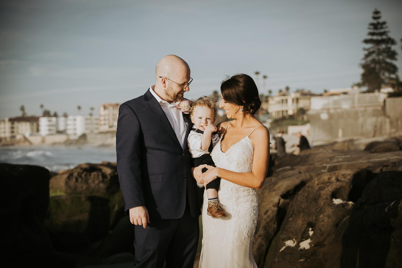 La Jolla Beach Intimate Wedding Elopement