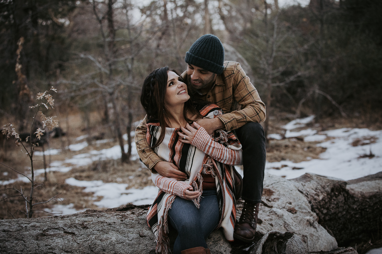 Snow Engagement Photos