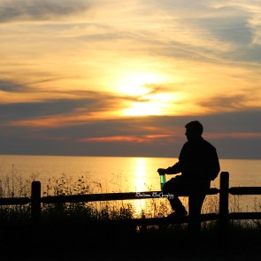 Sunset on Lake Michigan