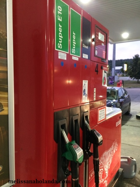Posto de gasolina na Alemanha