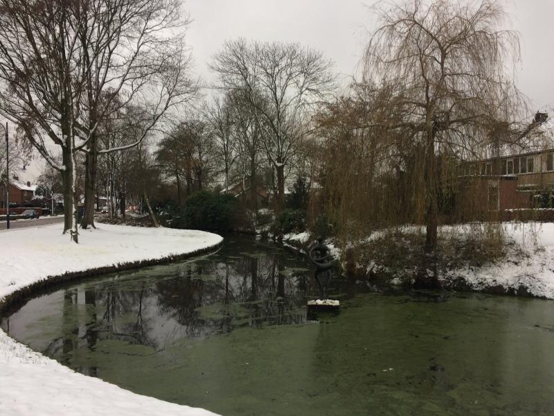Mesmo Canal de Eemnes no gelo