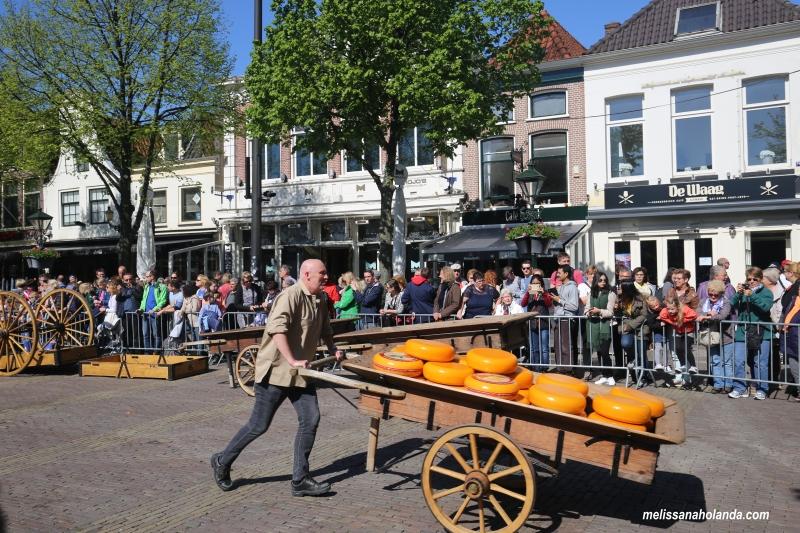 Carroca de queijo em Alkmaar