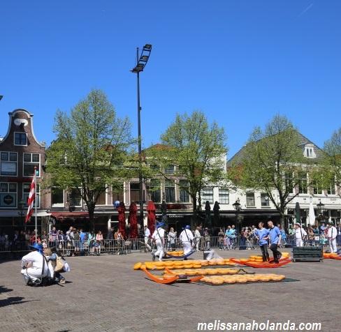 Feira do queijo em Alkmaar