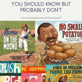 PICTURE BOOKS ABOUT AFRICAN AMERICANS THAT YOU SHOULD KNOW BUT PROBABLY DON'T. This is a great collection of children's books that celebrate African American's contributions. Check out this collection of picture books about African Americans. #picturebooks #blackhistorymonth #diversebooksforchildren