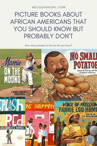 PICTURE BOOKS ABOUT AFRICAN AMERICANS THAT YOU SHOULD KNOW BUT PROBABLY DON'T. This is a great collection of children's books that celebrate African American's contributions. #picturebooks #blackhistorymonth #diversebooksforchildren