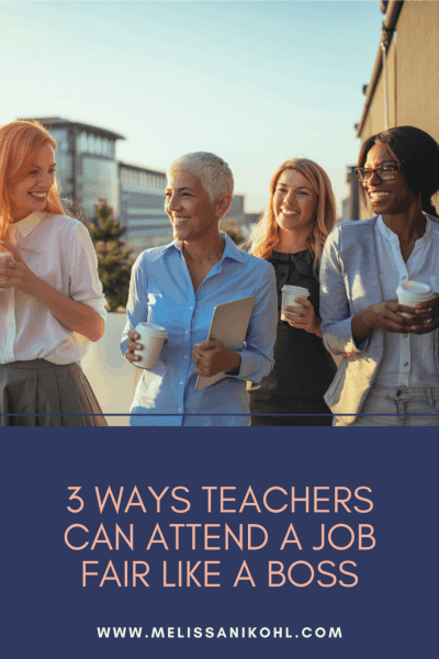 Get the teacher job fair tips you need to get ready for your teacher interview. Be prepared for teacher interview questions and be prepared to answer. Learn how you can attend a teacher job fair like a boss with these three tips! #teacherinterview #teacherjobfair #teacherinterviewquestions #teacherinterviewquestionsandanswers