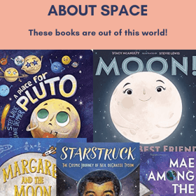 Are you looking for tips on teaching the solar system? These picture books about space are an easy to teach science and reading together. Some of these books are new picture books! Check out these picture books about the solar system today! #steam #stem