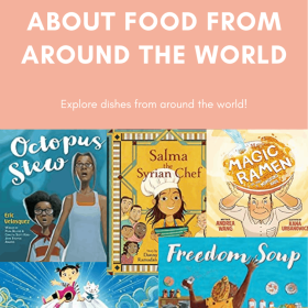PICTURE BOOKS ABOUT FOOD FROM AROUND THE WORLD Food is a great way to learn about a country's culture. These picture books are a great way to learn about the traditions of different countries. Check out these diverse picture books and add them to your classroom library. #diversepicturebooks #diverseclassroomlibrary