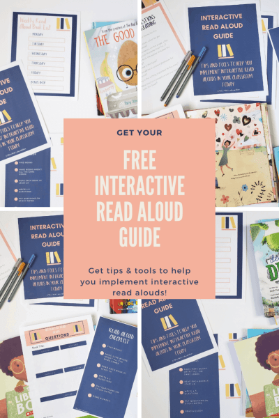 Are you looking for a way to organize your interactive read alouds? If you're having trouble planning read alouds or asking the right questions, then you need this freebie. Grab your free Interactive Read Aloud Guide now.!