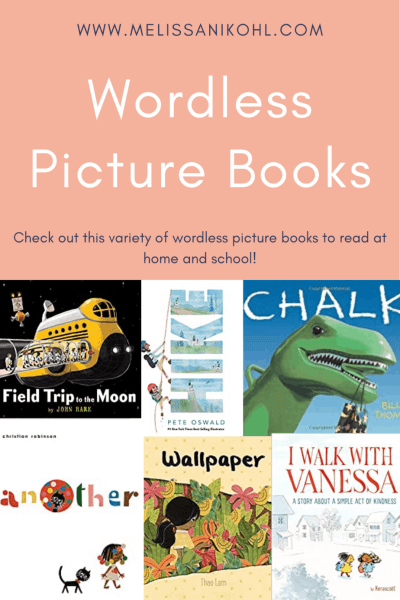 Wordless Picture Books are a great way to get kids talking about books. Books with out words are also a great way to teach inferencing skills. These books are a great group of books to add to your diverse classroom library. Check out this list of wordless books to read at school or home! #wordlesspicturebooks #diverseclassroomlibrary
