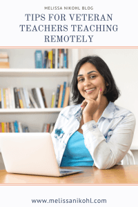Are you a veteran teacher? Are you looking for tips to help you teach remotely? Check out this blog post to help all veteran teachers teach virtually. #remoteteaching #virtualteaching