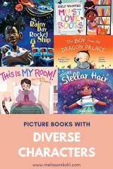 Check out these picture books with diverse characters! This booklist will help you add some diversity to your classroom or home library.