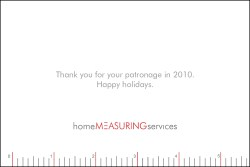 Home Measuring Holiday Card Back