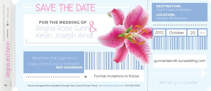 Gunn, Regina save the date