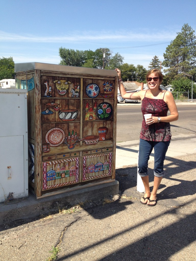 """Trastero Folklorico"" - traffic box in Nampa, Idaho by Melissa ""Sasi"" Chambers"