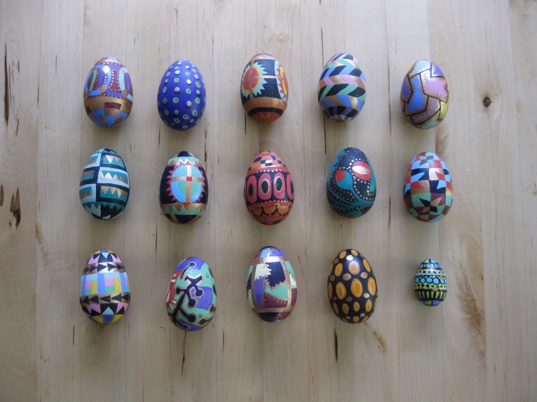 ©2019 Melissa 'Sasi' Chambers - wooden Easter eggs