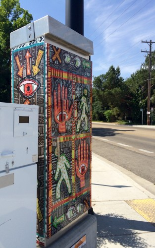 """Walk, Don't Walk"" traffic box front view"