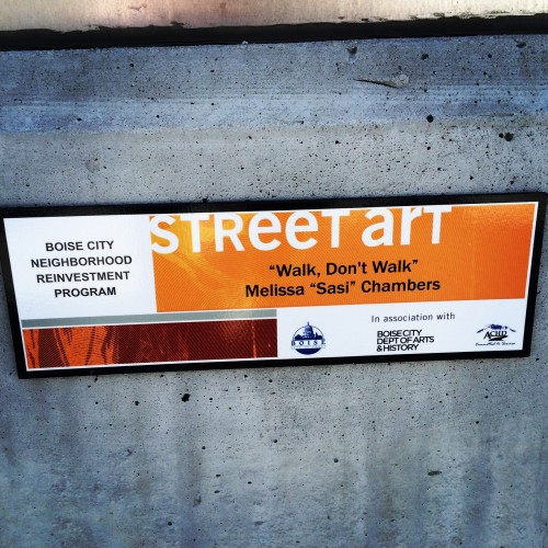 "Signage on ""Walk, Don't Walk"""
