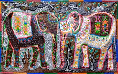 ©2016 Melissa 'Sasi' Chambers - Elephants in the Room - tarpestry