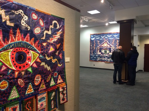 "View of ""Tarpestries"" Exhibition at BSU"