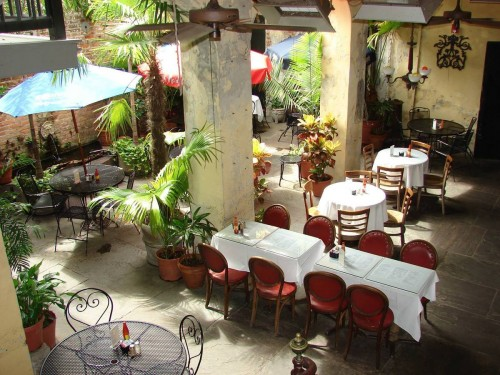 View of courtyard at Napoleon House in New Orleans