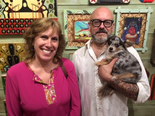 """Melissa """"Sasi"""" Chambers, Gabe Shaffer and Boo, at Red Truck Gallery in New Orleans"""