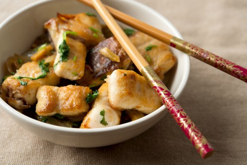Vietnamese Crispy Fish with Cilantro