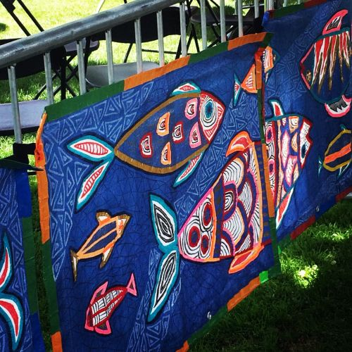 Fish tarpestries at World Village Festival 2016