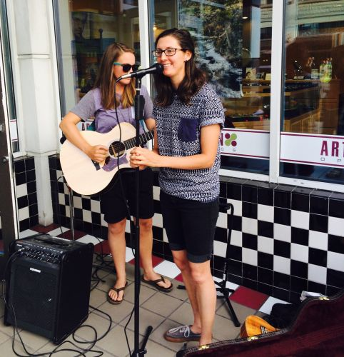 Fiona and Lettie playing on First Thursday